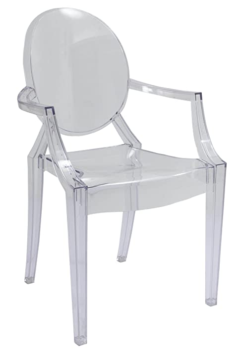 Louis Ghost Arm Chair Set Of 4 Transparent Acrylic Chairs