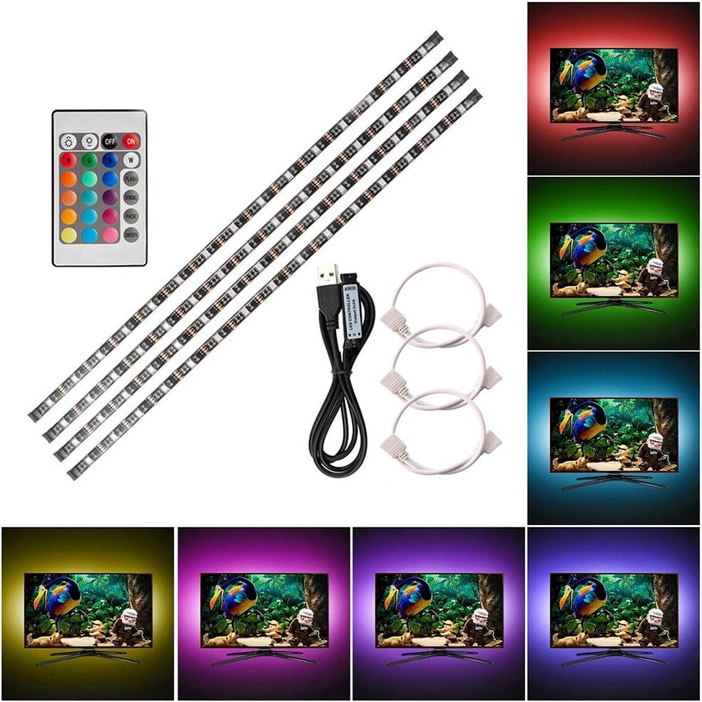 Lixada 4PCS RGB LED Kabinett Licht Installationssatz mit Fernbedienung f/ür B/ücherschrank Wandschrank D/ünne Runde Form Unterbauleuchte Farb/ändernde Dimmable Helligkeit Justierbar.