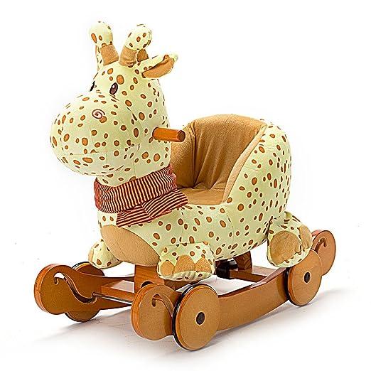 28 opinioni per Labebe Cavallo a Dondolo di Legno 2-in-1 Uso come Passeggino per Bambino