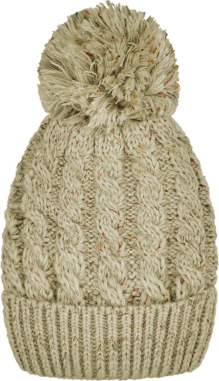 Womens Ladies Luxury Super Warm Winter Fur Lined Hat One Size Beige