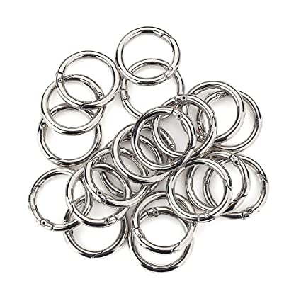 Amazon Com 20 Pcs Round Carabiner Gate O Spring Loaded Gate Clips