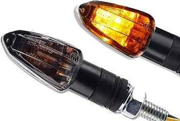 HIGHSIDER universali Mini frecce a LED per moto colore: nero fum/é omologate 1 paio