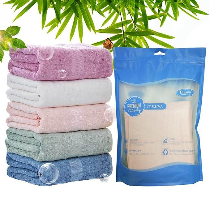 BLUESTAR bambú natural bebé paños, toallas de bebé absorbente suave para piel sensible, Baby Shower Regalos, 34 cm x 34 cm (5-Pack): Amazon.es: Bebé