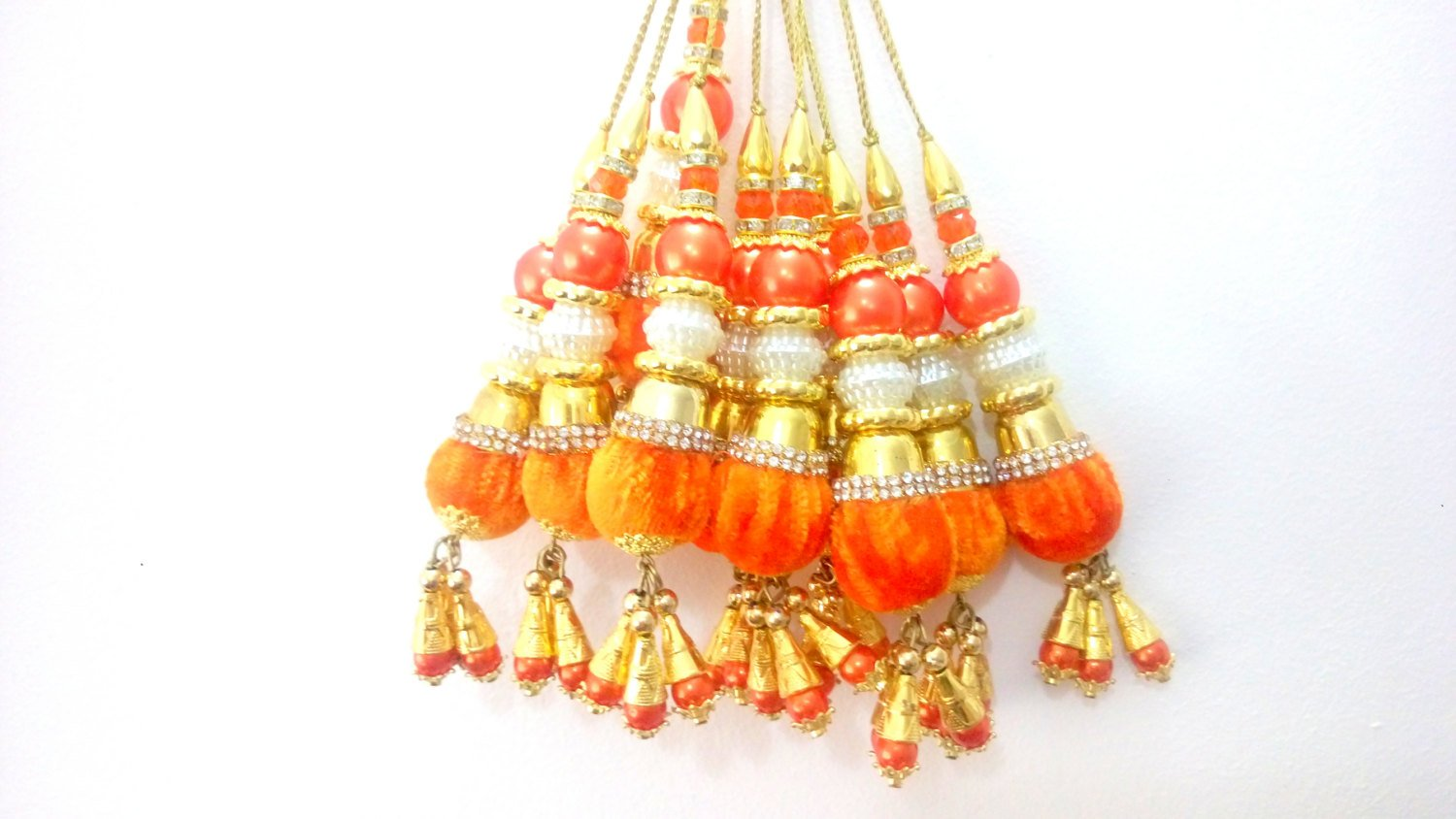 Tassel dress designing Bridal Blouse accessories cloth Tassel Cloth tassel Beaded Latken Sari Latken-Length 4 inches-Price for a Pair-IDLA55: Amazon.co.uk: ...