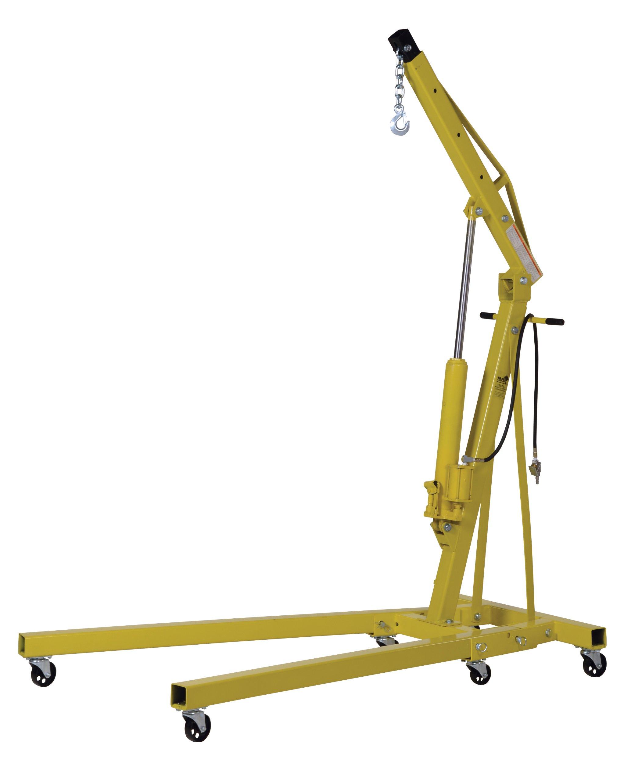 Vestil EHN-40-C-AH Steel Air/Hand Pump Hydraulic Shop Crane Engine Hoist with Folding Legs 4000 lbs Capacity by Vestil (Image #2)