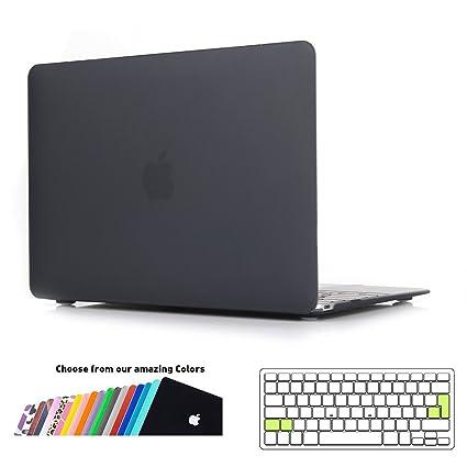 Funda MacBook 12 pulgada,iNeseon Ultra Delgado Carcasa Dura Shell Case con Cubierta del Teclado Transparente EU Layout para Apple MacBook 12 Retina ...