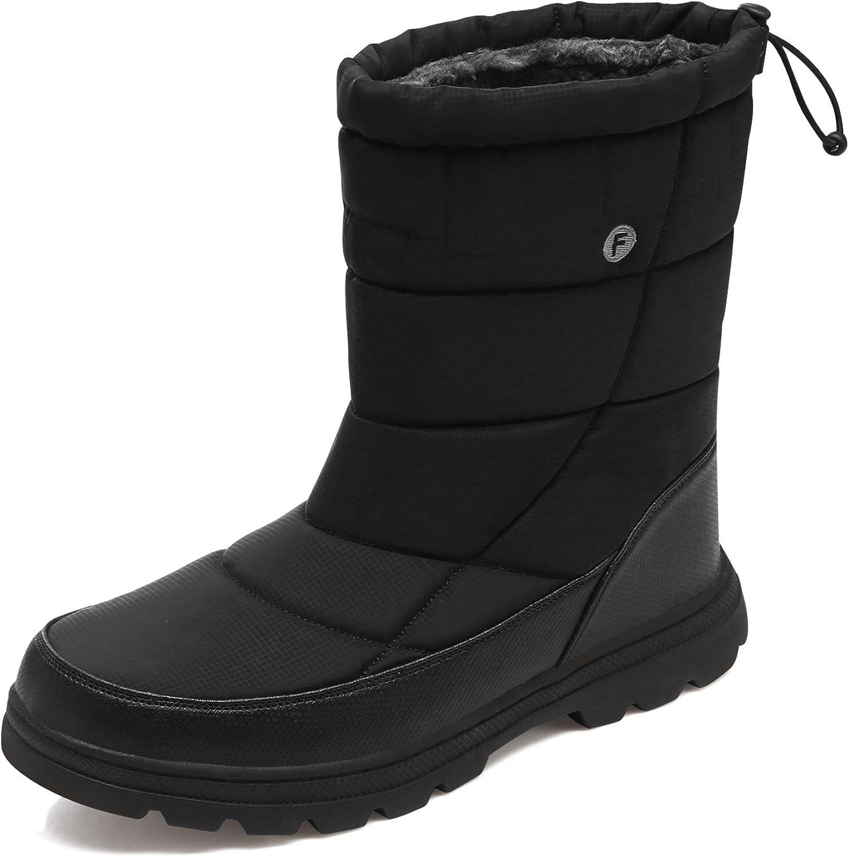 YIRUIYA Mens Winter Snow Boots