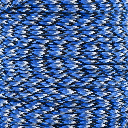 Sky Blue Snake - Paracord Planet 100 Ft Hanks (30 Meters) of 550lb Para Cord 7 Strand 4mm Tactical Parachute Rope in Assorted Colors