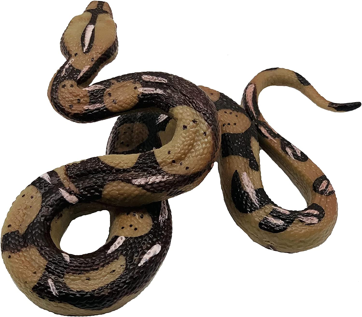 Higherbros Boa Constrictor Python Marsh Animal Figures for Children's Animal Figurines Toys Snake Toys Bath Toys Beach Toys Scary Toys Prank for Home and Garden Decorating