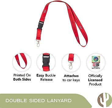 Valdosta State University VSU Blazers NCAA Car Keys ID Badge Holder Lanyard Keychain Detachable Breakaway Snap Buckle