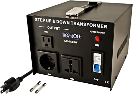 1500 Watt Voltage Converter Transformer Heavy Duty Step Up//Down 1500W 110-220V