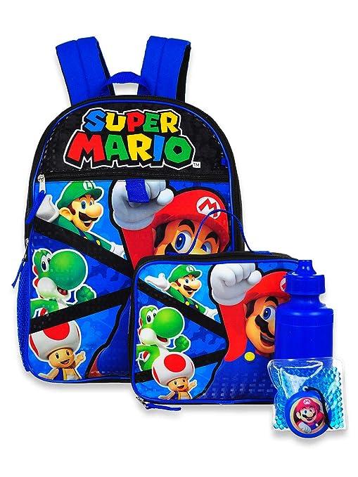 Amazon.com: Super Mario - Juego de mochila (5 piezas, talla ...
