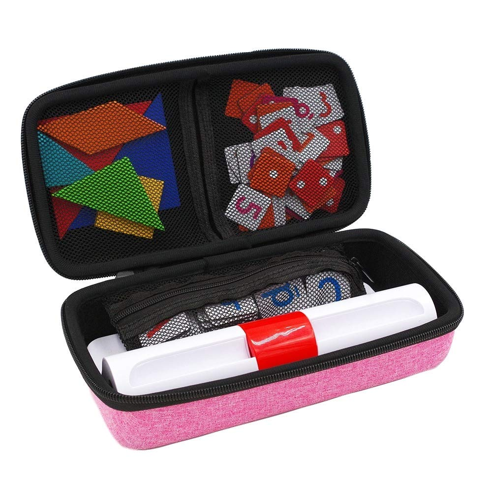 xcivi Hard Carrying Case for Osmo Genius Kit, Storage Organizer for OSMO Base/Starter/Numbers/Words/Tangram/Coding Awbie Game (Pink) by xcivi