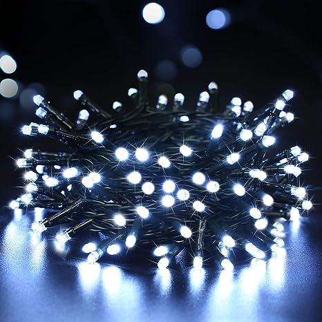 Lichterkette mit Timer 100 LED weiß Aussen Batteriebetrieb Weihnachten Xmas