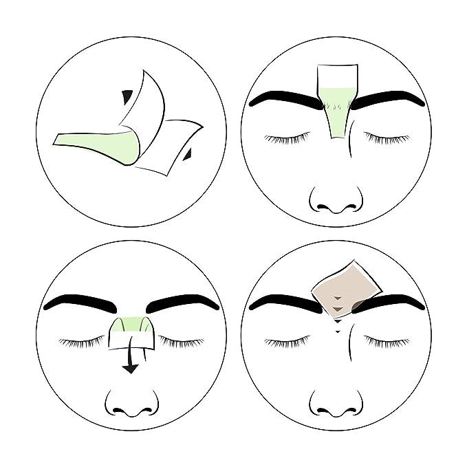 andmetics Brow Wax Strips Women - Patentada Eyebrow Cejas Cera fría, 12 unidades: Amazon.es: Belleza