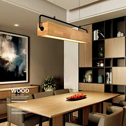 Exceptional Amazon.com: PLLP Living Room Ceiling Lamp,Pendant Lights Rectangular Wooden Led  Chandelier Dining Room Study Living Room Light,Household Chandelier: Sports  ...