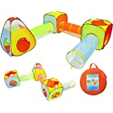 YOOBE 6pc enfants jouent tente et tunnel, intérieur et extérieur enfant sautent tente avec des tunnels
