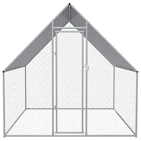 vidaXL Jaula Gallinero de Exterior 2x2x2 m Acero Galvanizado ...