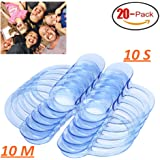 20-Pack Cheek Retractors for the Mouth Guard Game - Dental-grade C-Shape Mouthpieces for Adults and Kids,10 Medium ,10 Small)