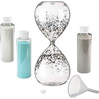 Lillian Rose Hourglass Wedding Unity Sand Ceremony Set, 3.25x3.25x8.25, Clear