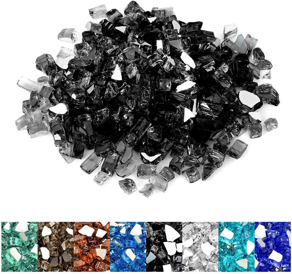 Fireplace 10-Pound Onlyfire Reflective Fire Glass Diamonds for Natural or Propane Fire Pit 1//2-Inch or Gas Log Sets Onyx Black