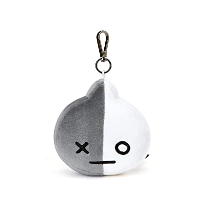 LINE FRIENDS BT21 Official Merchandise Van Character Doll Face Keychain Ring Cute Handbag Accessories