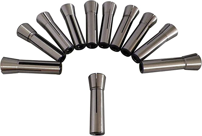 """11 PC R8 Collet Set 1//8/"""" to 3//4/"""" Fractional High Precision for Bridgeport"""