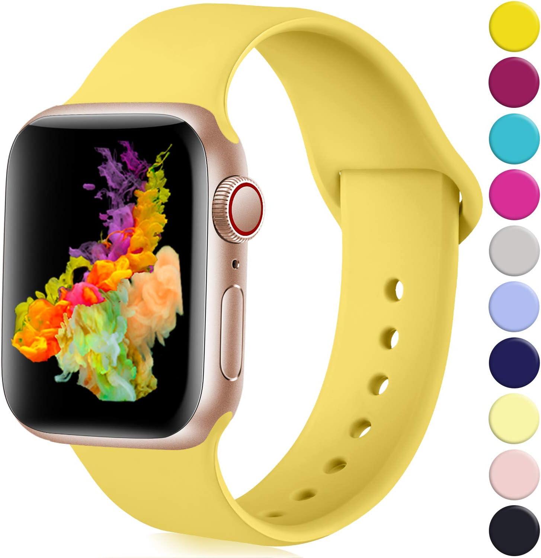 Malla Silicona Para Apple Watch Amarillo 42/44mm