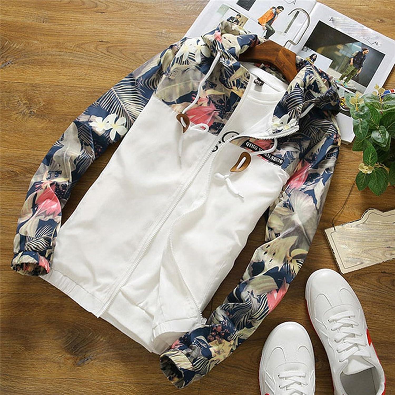 Women Floral White Windbreaker Warm Bomber Jacket Coat Winter Spring Autumn at Amazon Womens Clothing store: