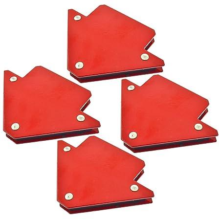 4pk 25lb 75mm Welding Magnet Arrows Welder Holder Support 45 90 135 Angles