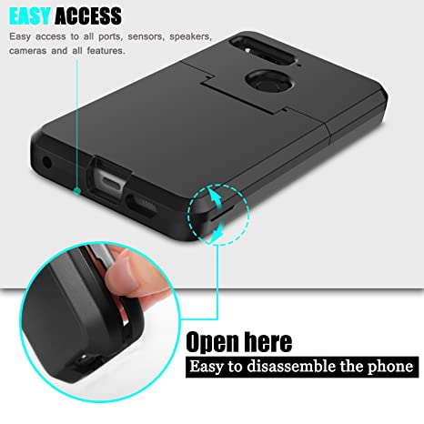 Innens Compatible Essential Phone PH-1 Case, 3-in-1 [TPU + Dual Layer PC]  Heavy Duty Hybrid Full-Body Protect Case Compatible Essential Phone PH-1