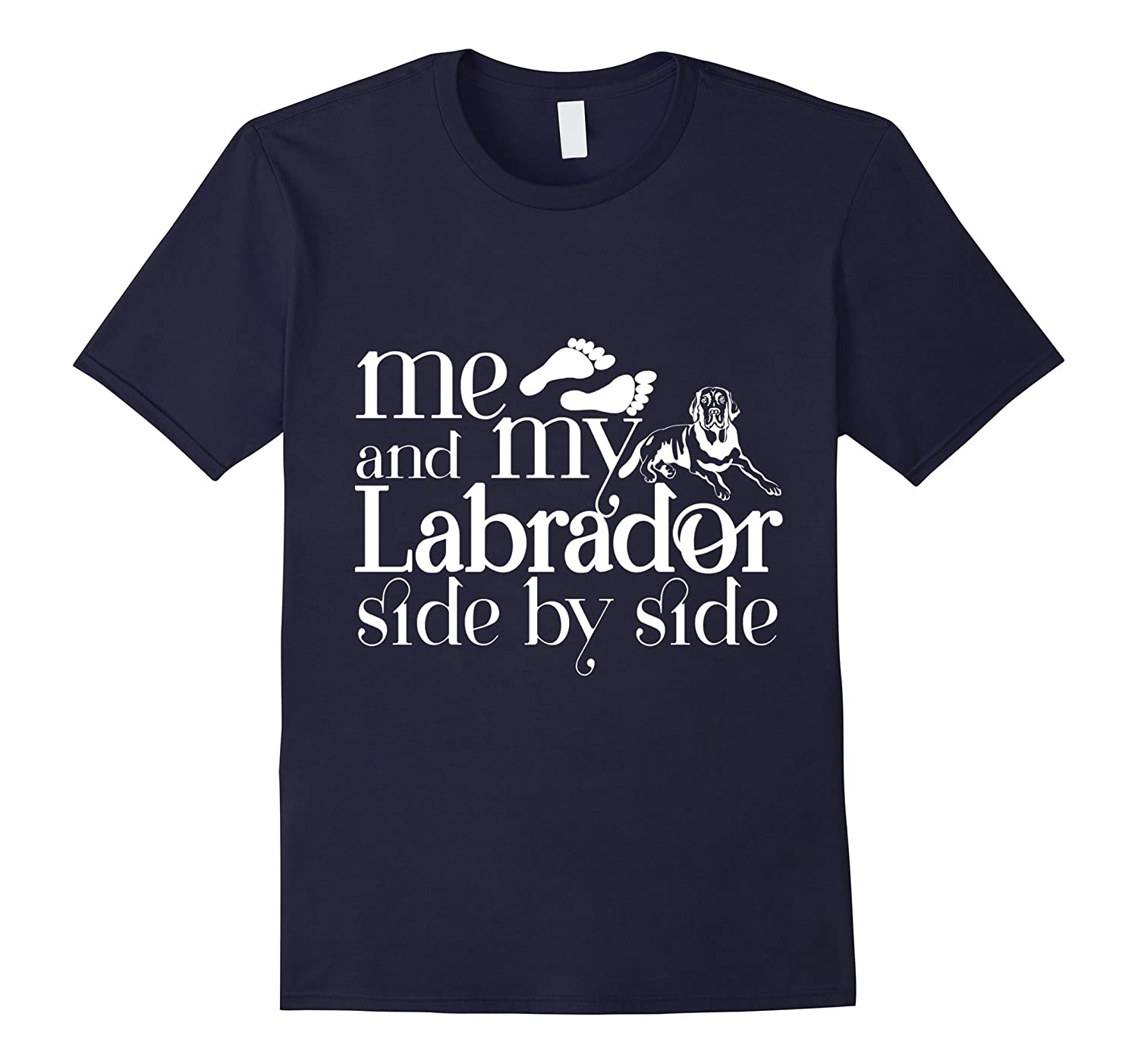 Me And My Labrador Side By Side T Shirt Labrador T Shirt-Vaci