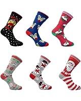 3x Pairs of Mens or Ladies Christmas Novelty Design Socks **Fantastic Gift Idea**