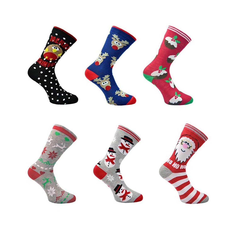 ideali come regalo 3/paia di calze da uomo o da donna con motivi ispirati al Natale
