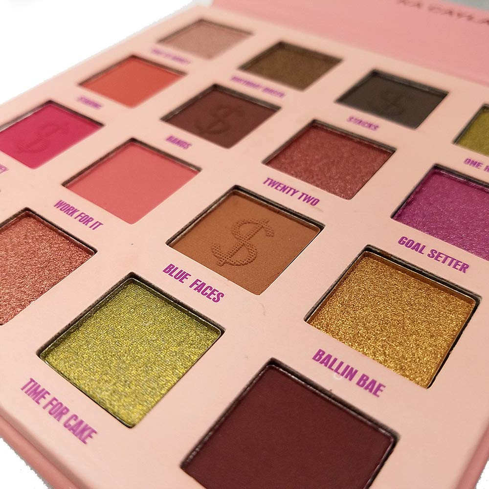 Eyeshadow Palette with Makeup Mirror 16 Colors Super Pigmented Makeup Matte and Shimmer