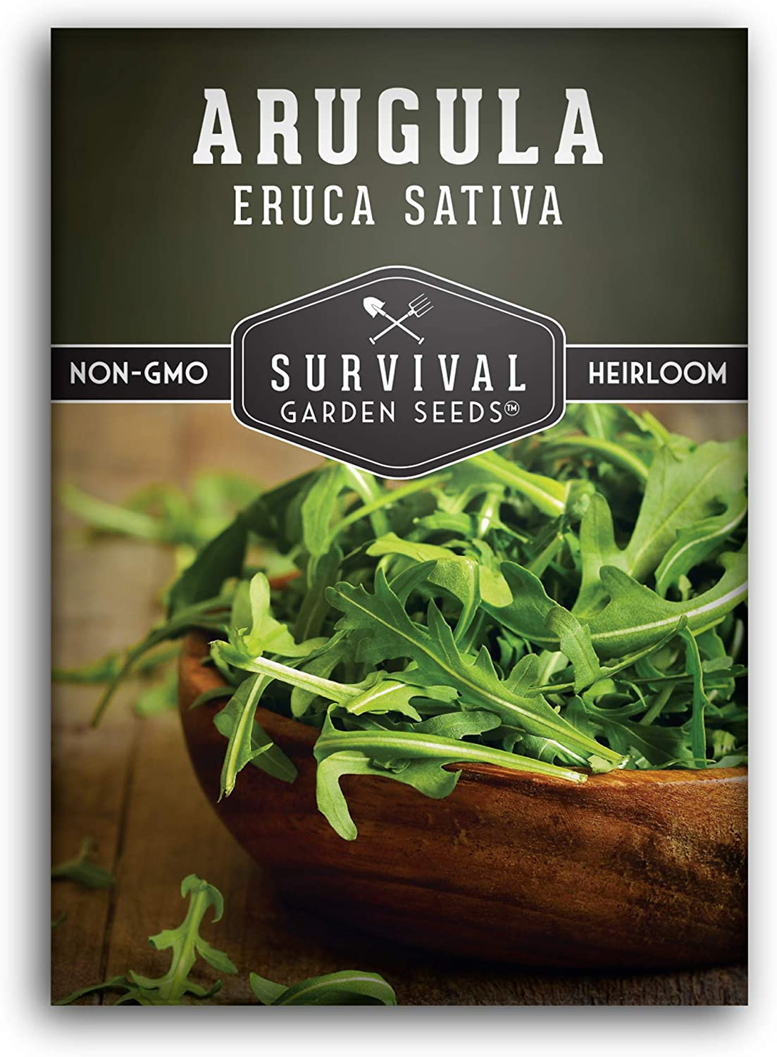 Survival Garden Seeds - Arugula Seed for Planting - Packet with Instructions to Plant and Grow in Your Home Vegetable Garden - Non-GMO Heirloom Variety