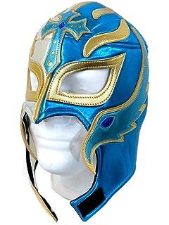 Rey Mysterio Adult Lucha Libre Wrestling Mask (Pro-fit) Costume Wear - Aqua
