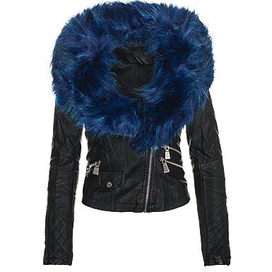 invernale ecopelle da effetto moda alla donna in Giacca aCIgqt