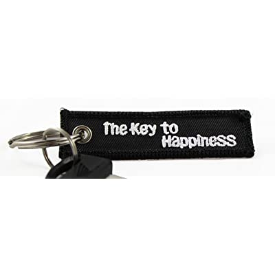 Centurion Goods Mini Motorcycle Keychains- CG Keytags Made for Motorcycles, Scooters, Cars, Gifts, and More (Key to Happiness): Automotive
