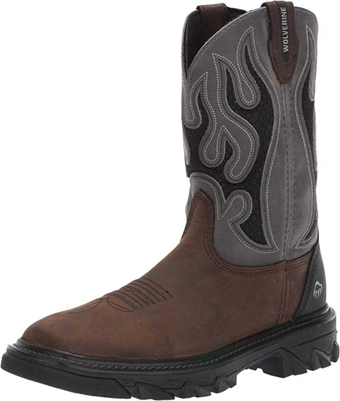 6ae7e16b960 Amazon.com: Wolverine Men's W10912 Ranch King Industrial Shoe, Grey ...