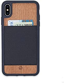 product image for JIMMYCASE iPhone X/Xs Wallet Case, Handcrafted in USA • Real Mahogany • Ultra Slim Protective Credit Card/Wallet Case • Holds Six Cards & Cash