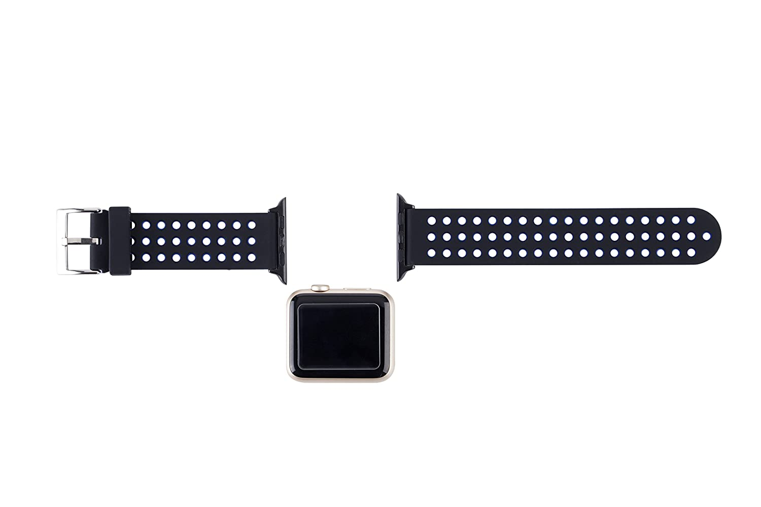 Lwsengme Silicone Sport Replacement Strap With Blueband Dus Adjustable Buckle And Quick Release For Apple Iwatch Series 2 Watch 1 Nike