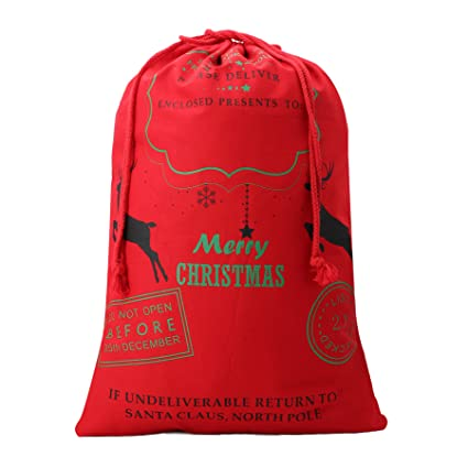 6bca8839012 Amazon.com: Lydia's Deal Christmas Santa Sack Reindeer Delivery Present Bags  from North Pole Bags for Kids Large Christmas Decoration Stocking (9): Home  & ...