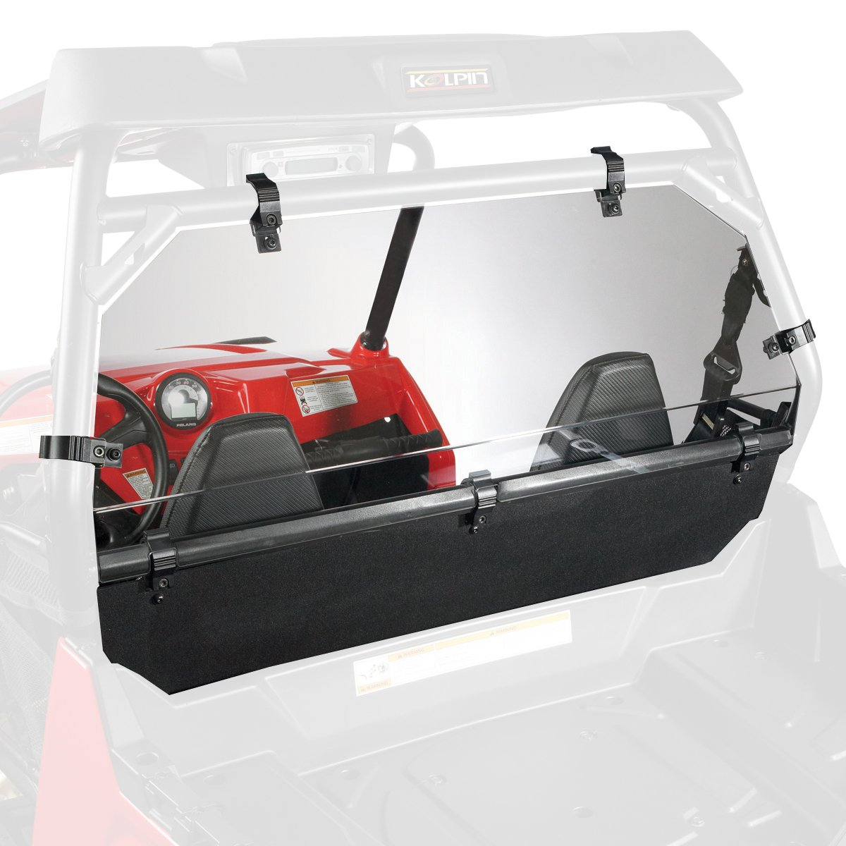 Kolpin Rear Panel Windshield Combo for Polaris RZR - 2726