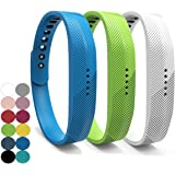 YEFOD 3pcs/Set Fitbit Flex 2 Armband, Weiche Silikon Ersatz Zubehör Ersatzarmband für Fitbit Flex 2