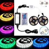 Amazon Price History for:Led Strip Light Waterproof 32.8ft 10m Waterproof Flexible Color Changing RGB SMD5050 300leds LED Strip Light Kit with 44 Keys IR Remote Controller and 5A Power Supply