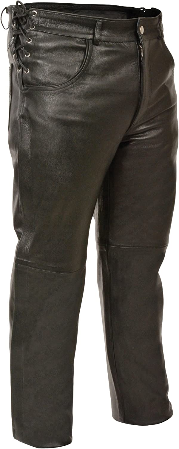 S Black, Size 34 Milwaukee Leather Mens Premium Leather Pants
