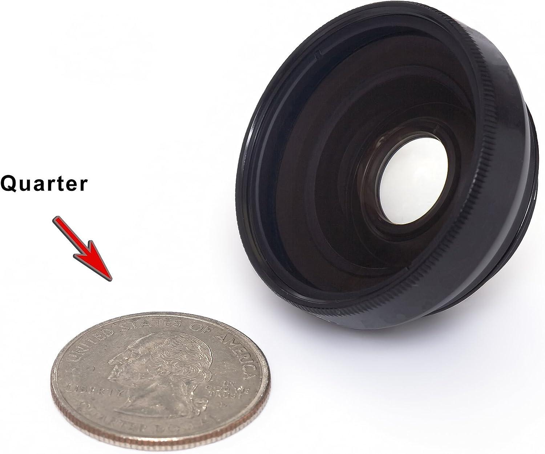 Magnetic Type. Black Finish W// Macro HM-TA20 Panasonic TA-20 Modification Style 0.45x Wide Angle Lens HD
