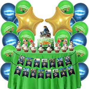 Video Game Zelda Party Supplies Cake Topper Cupcake Toppers Birthday Favors Toppers Decorations