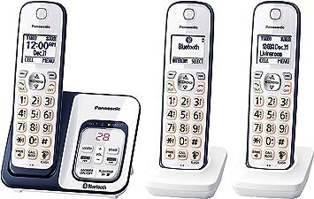 Panasonic kx-tgd563 a link2cell Bluetooth teléfono inalámbrico con Asistencia de Voz y contestador automático – 3 teléfonos inalámbricos (Certificado Reformado): Amazon.es: Electrónica